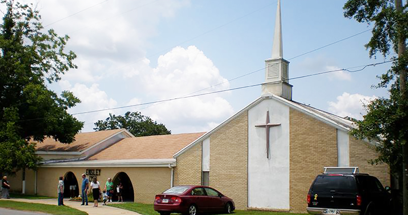 outside view of ensley church