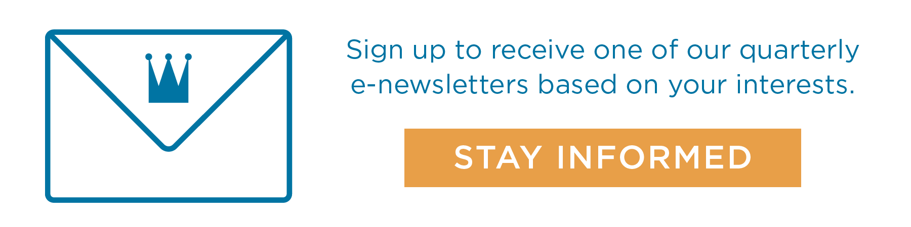 Click here to receive one of our quarterly newsletters.