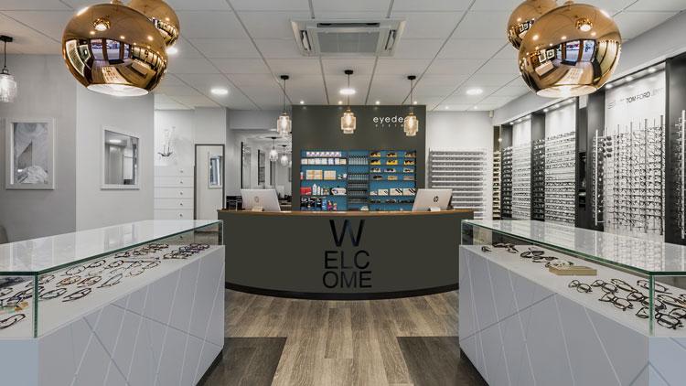 visit eyedeal vision optician showroom