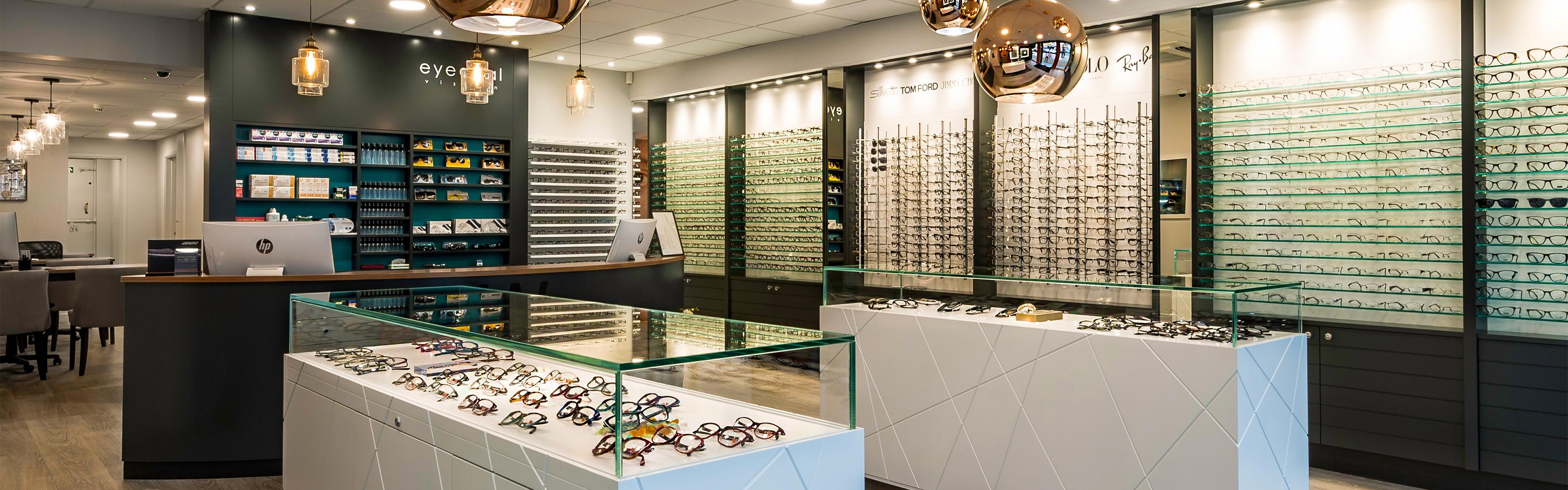 eyedeal vision opticians showroom glasses display
