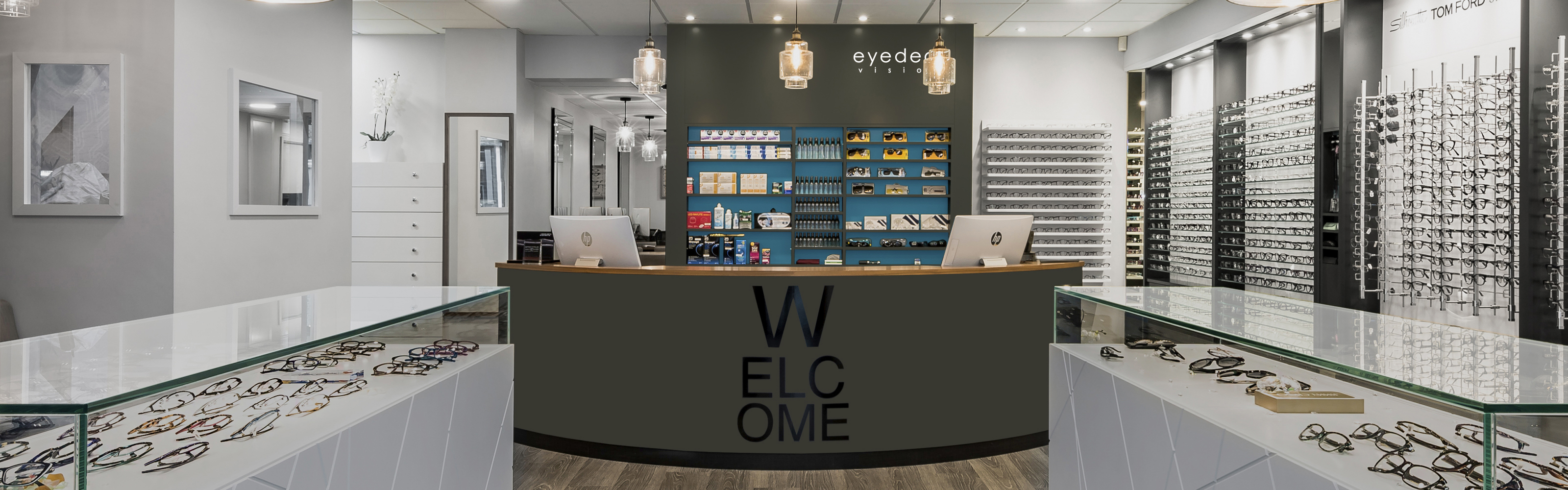 eyedeal vision opticians showroom reception