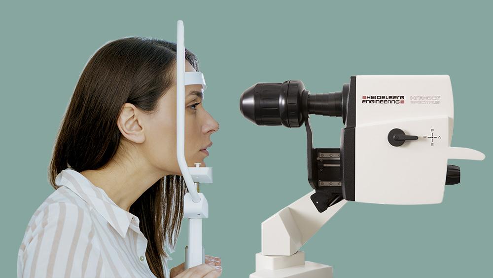 Latest technology OCT eye test