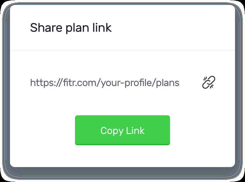 Fitr plan share screen shot