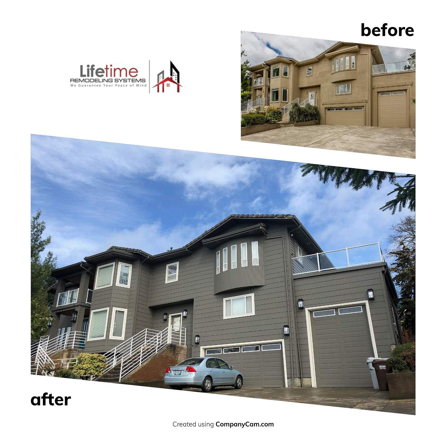 EIFS Replacement before and after