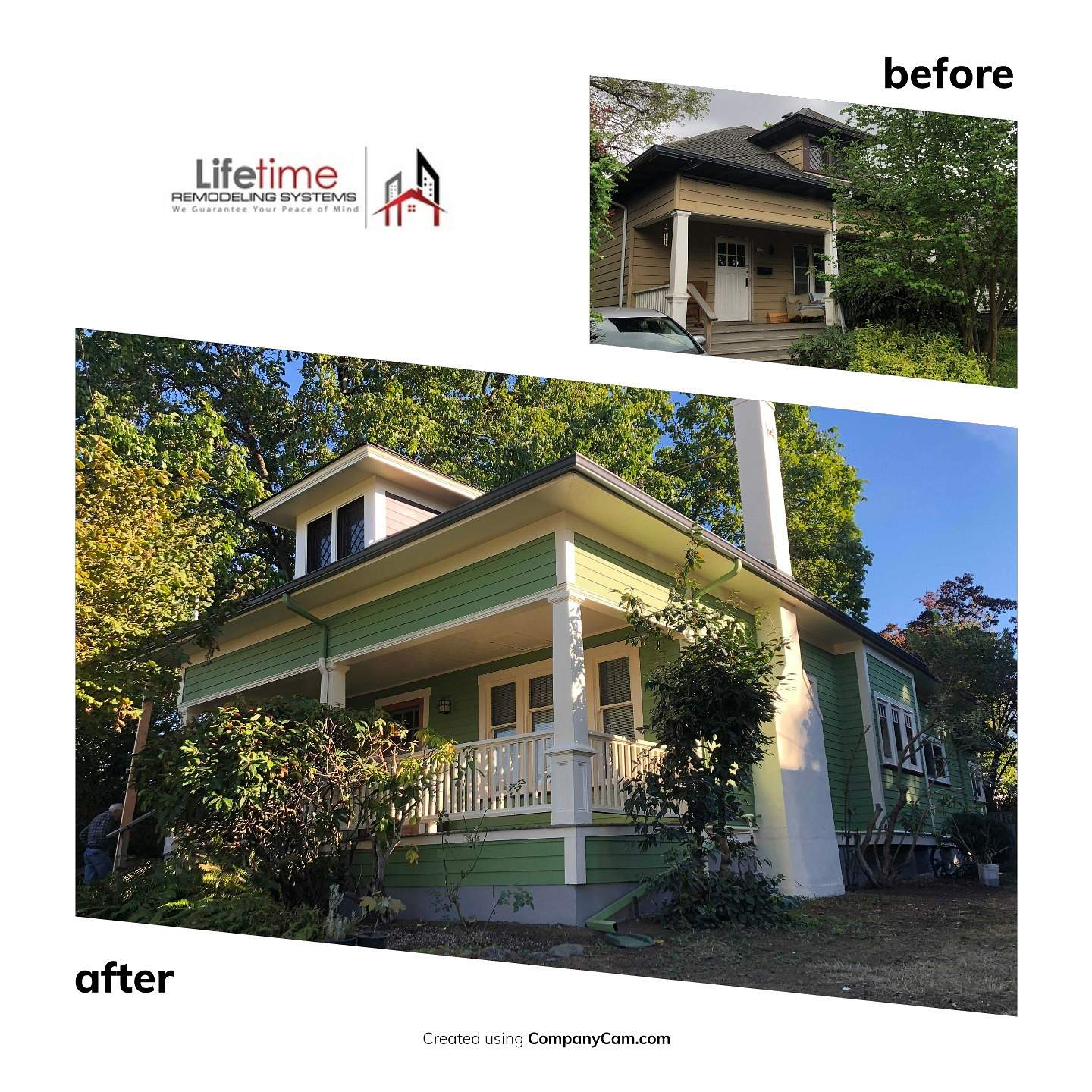 Old house craftsman siding replacement Lifetime Remodeling