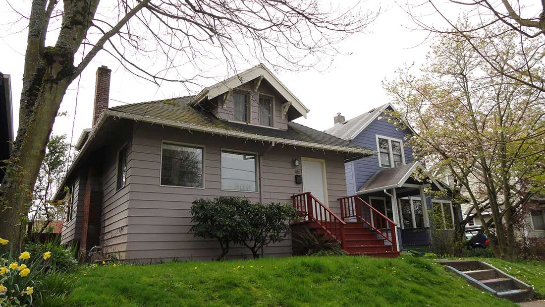 old house full exterior siding replacement