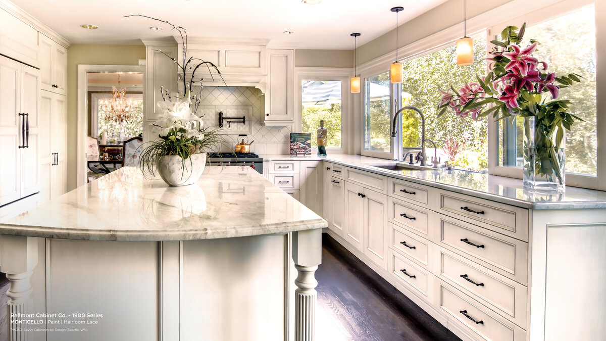 Traditional Style Custom Cabinets White Kitchen