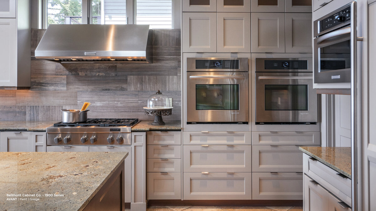 gray cabinets traditional kitchen remodel