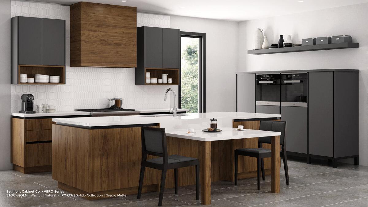 Frameless cabinets high end kitchen remodel