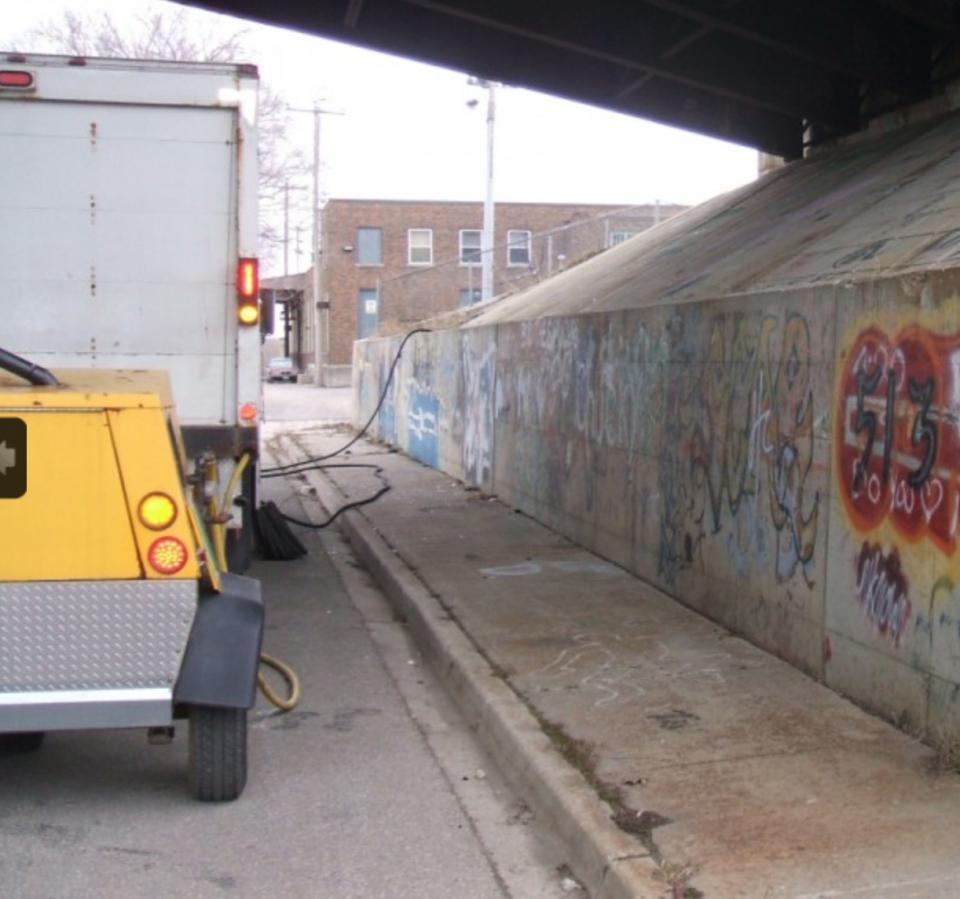 Media Blasting in Kitchener, ON | Forbes Graffiti & Soda