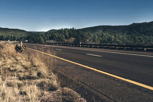 A road with asphalt