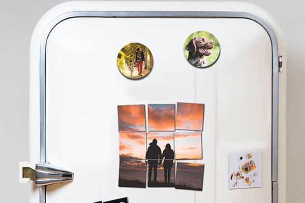 Custom metal Photo magnets
