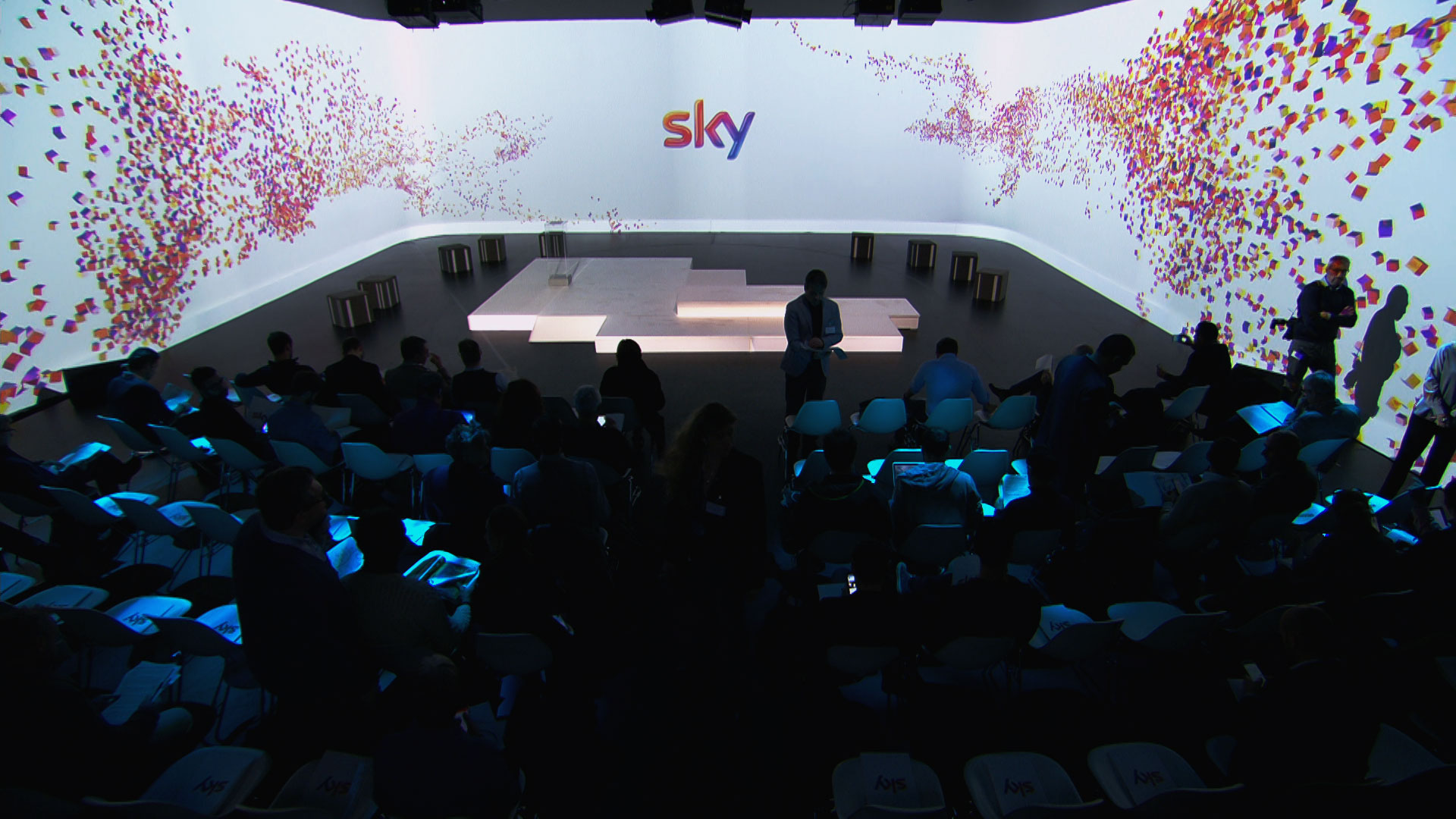 The presentation of Sky Q to the press, the biggest revolution in the use of television content in recent years for pay per view, an event to be carried out within the Sky Italia headquarters in Milan