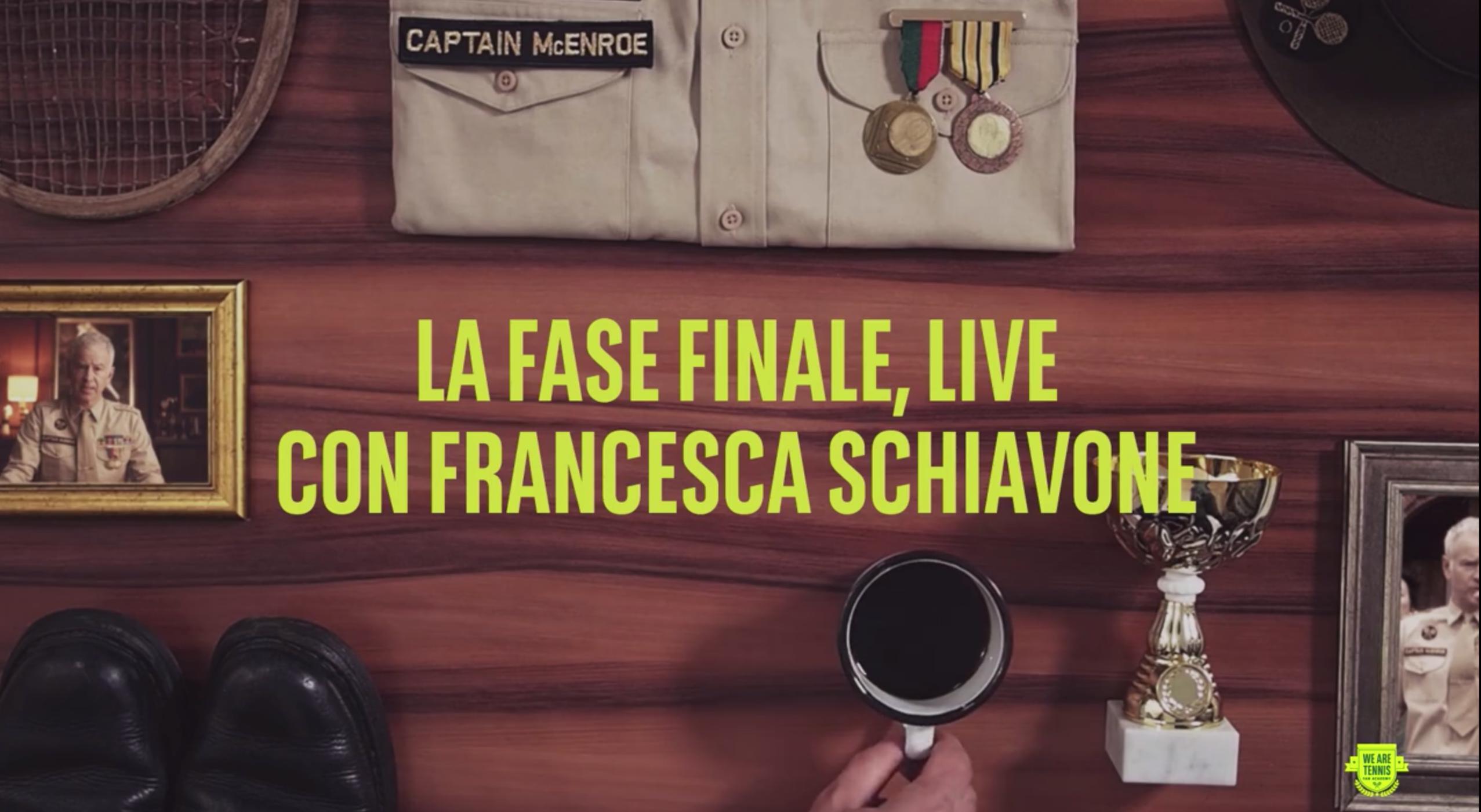 Video production and live streaming per la selezione finale della We Are Tennis Fan Academy con Francesca Schiavone