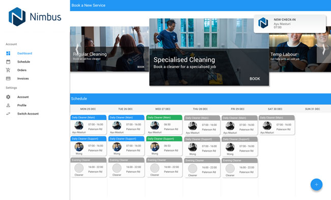 Nimbus Office Management Portal