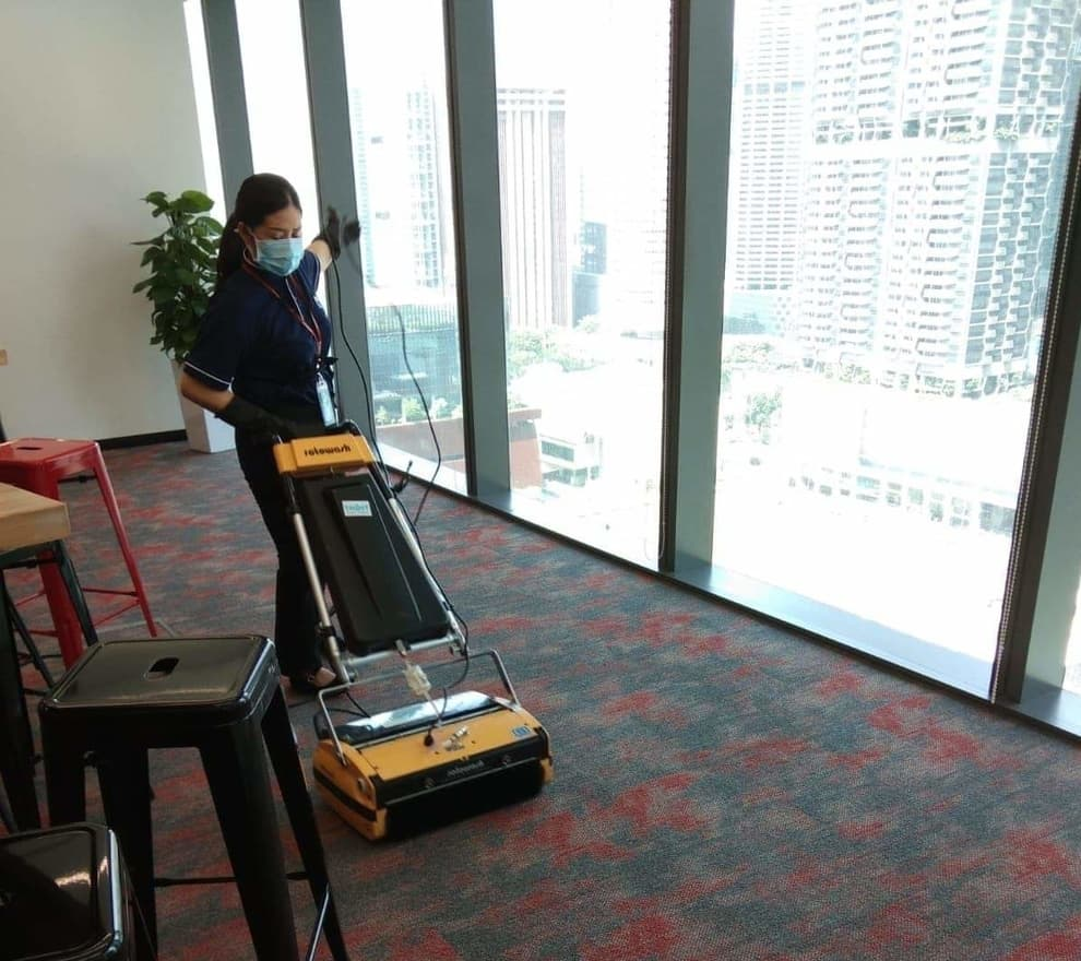 Disinfection carpet cleaning during Covid-19 period