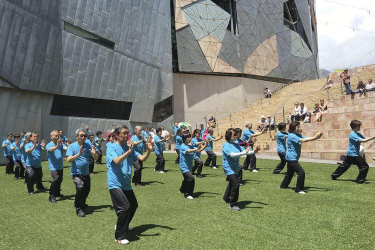 TCA and Japan Health Tai Chi Association Triumph at Federation Square