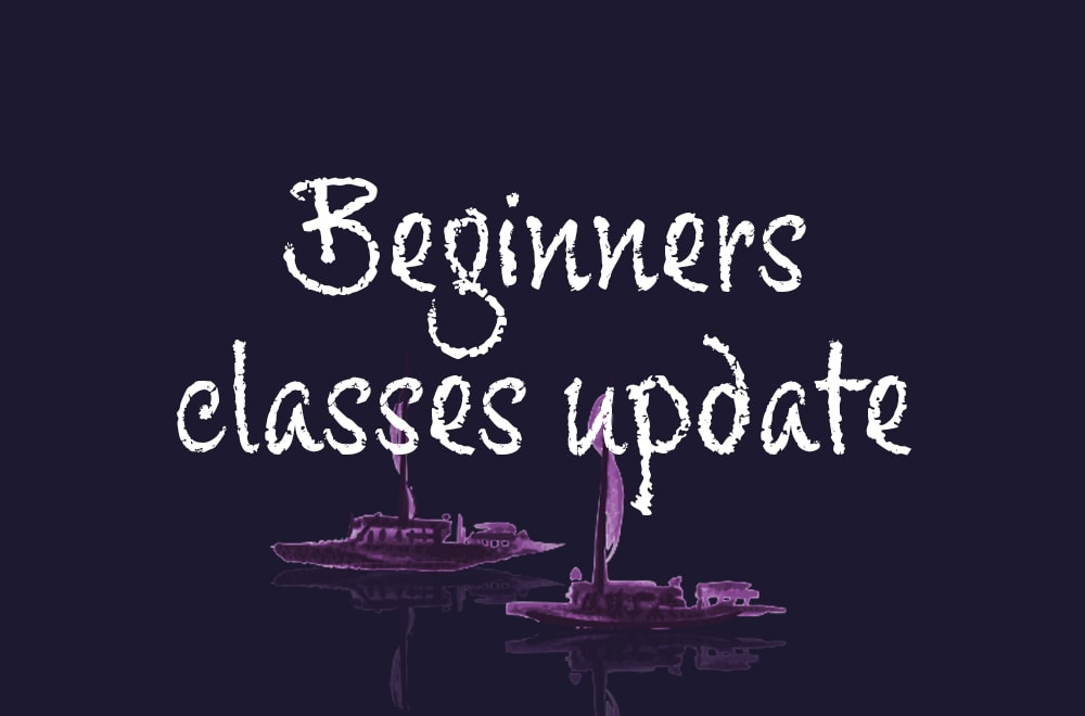 Beginner's classes update