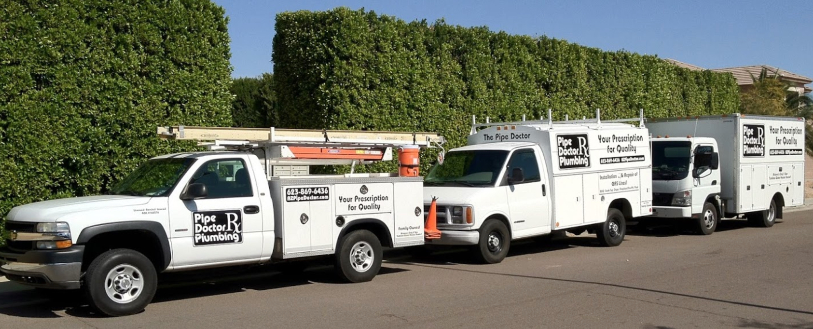 az's best pipe doctor plumbing fleet near a phoenix home