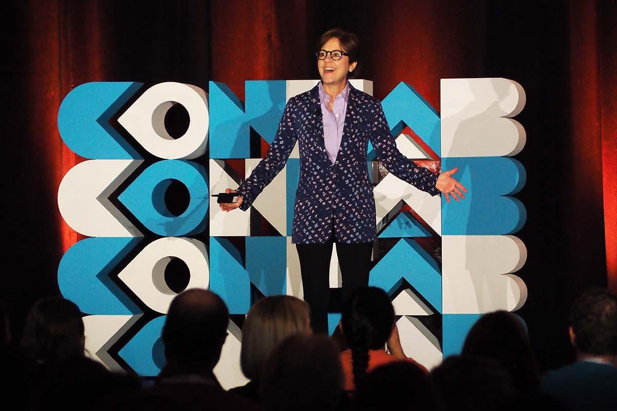 Ann Handley speaking at Confab