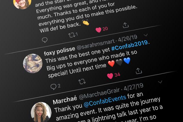 Confab 2019 Tweets