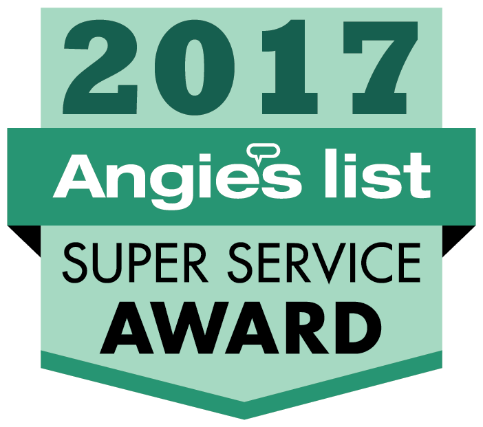 We're proud winners of the Angie's List 2017 Super Service Award