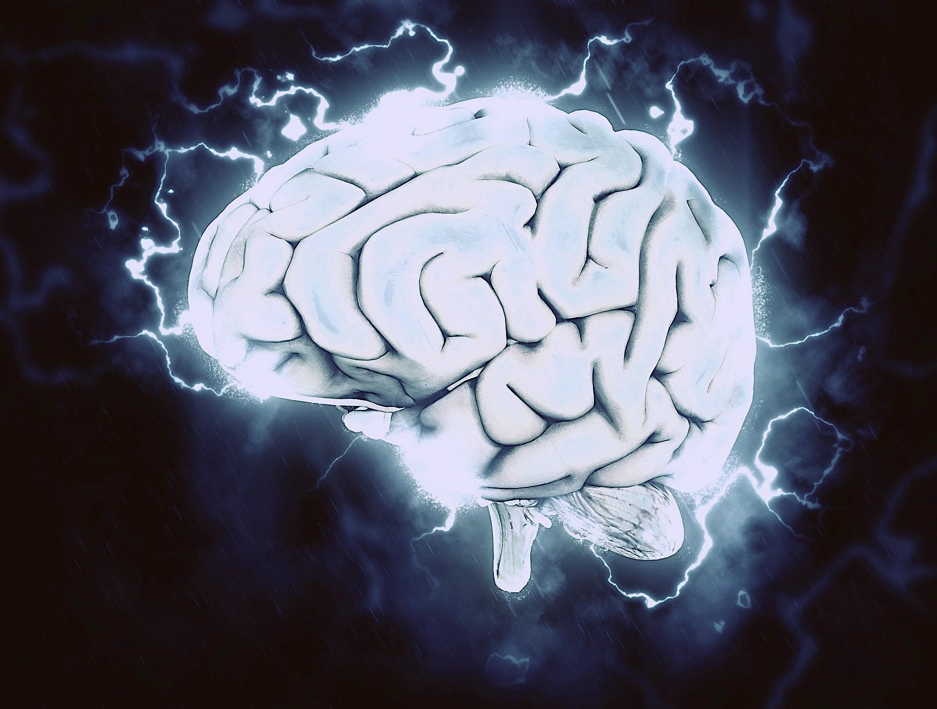 brain electricity illustration