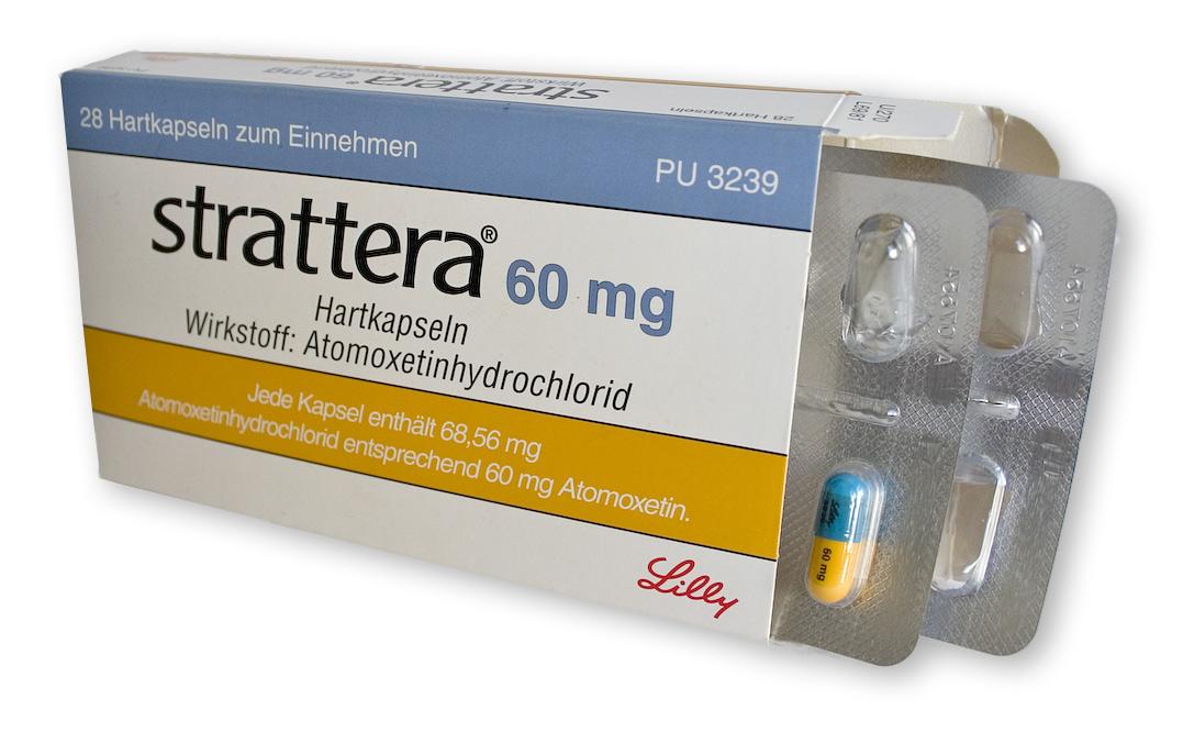 box of strattera pills, atomoxetine medicine for ADHD