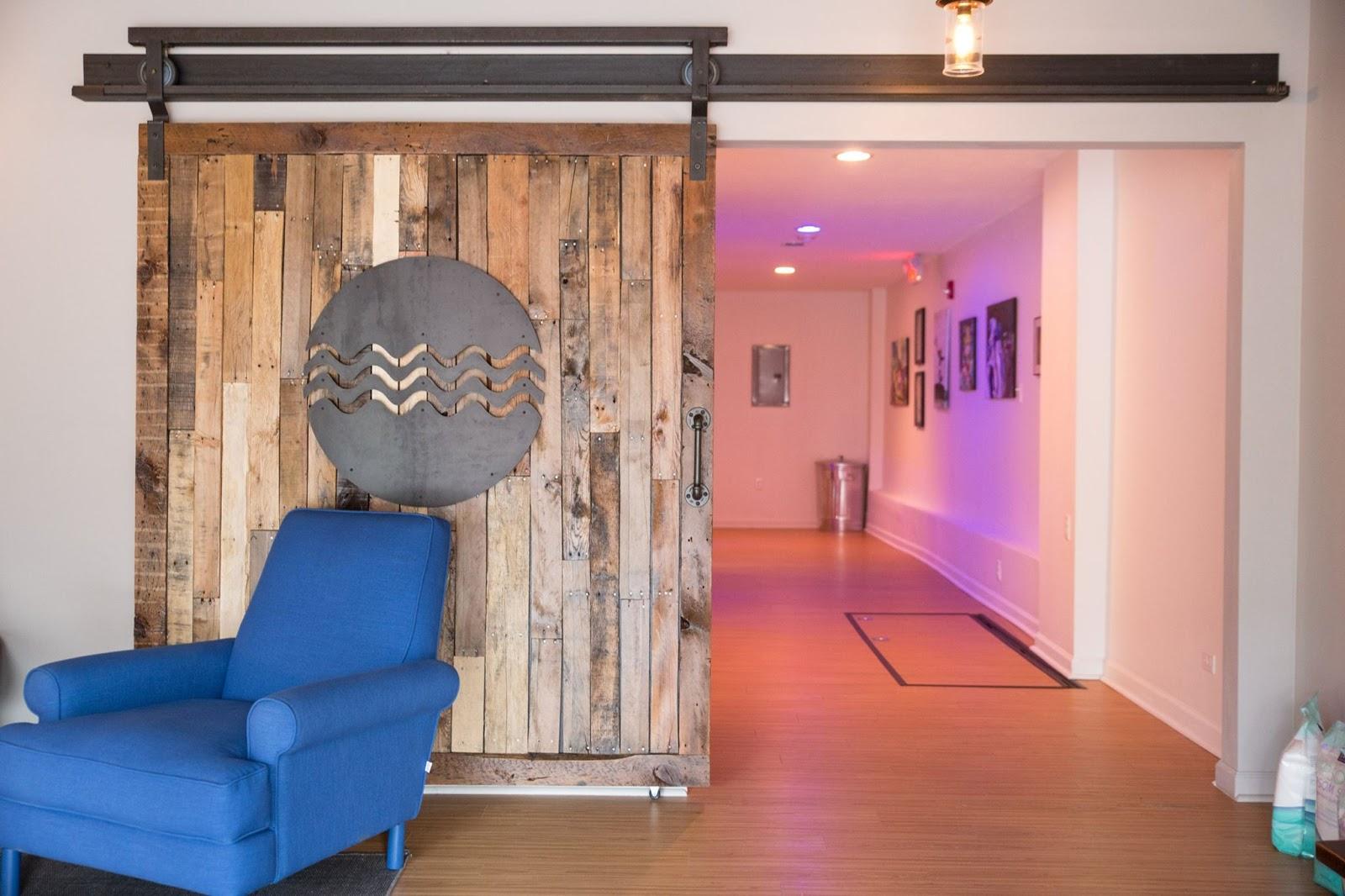 lobby at Levity Float Studio
