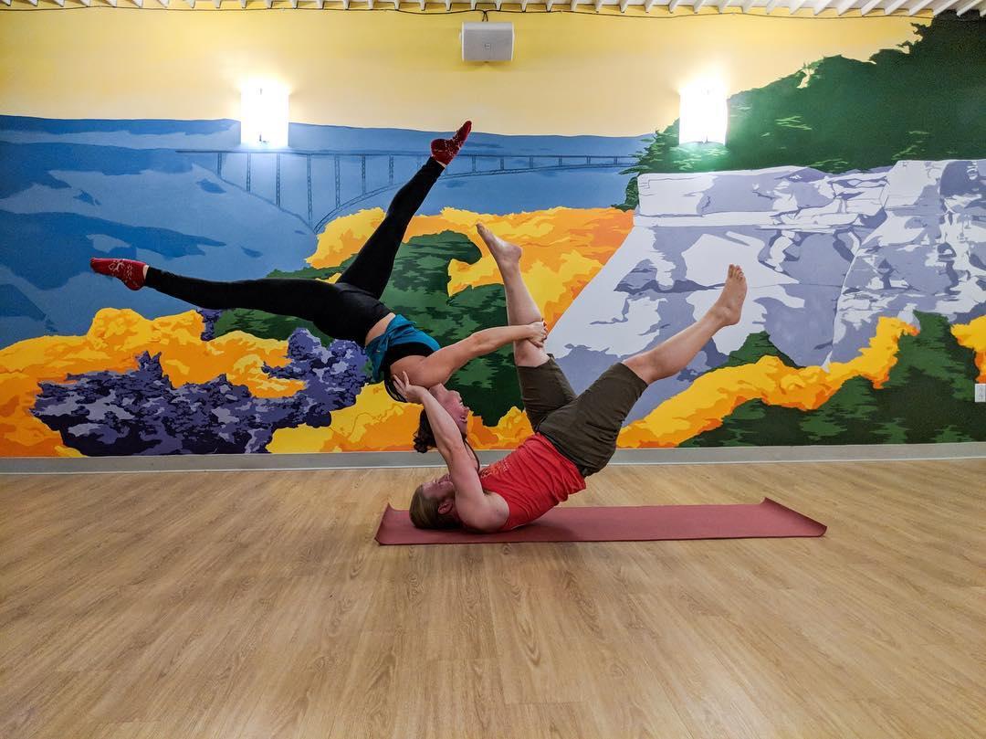 partners doing yoga in Suncrest Yoga