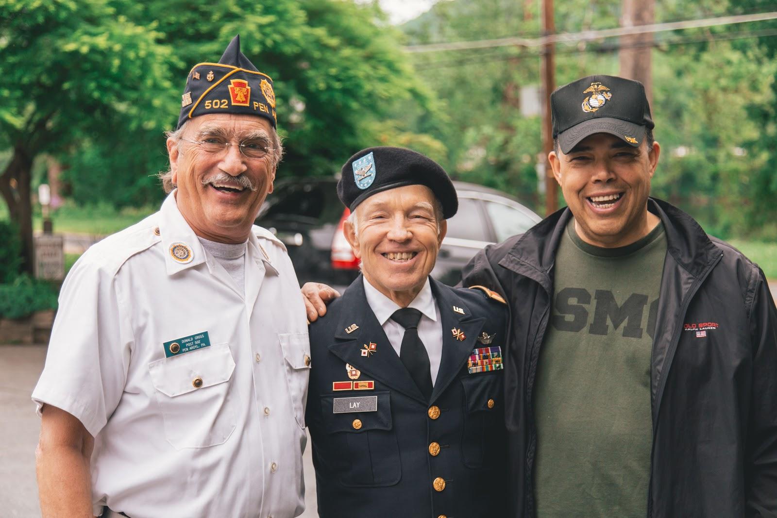 veterans smiling together