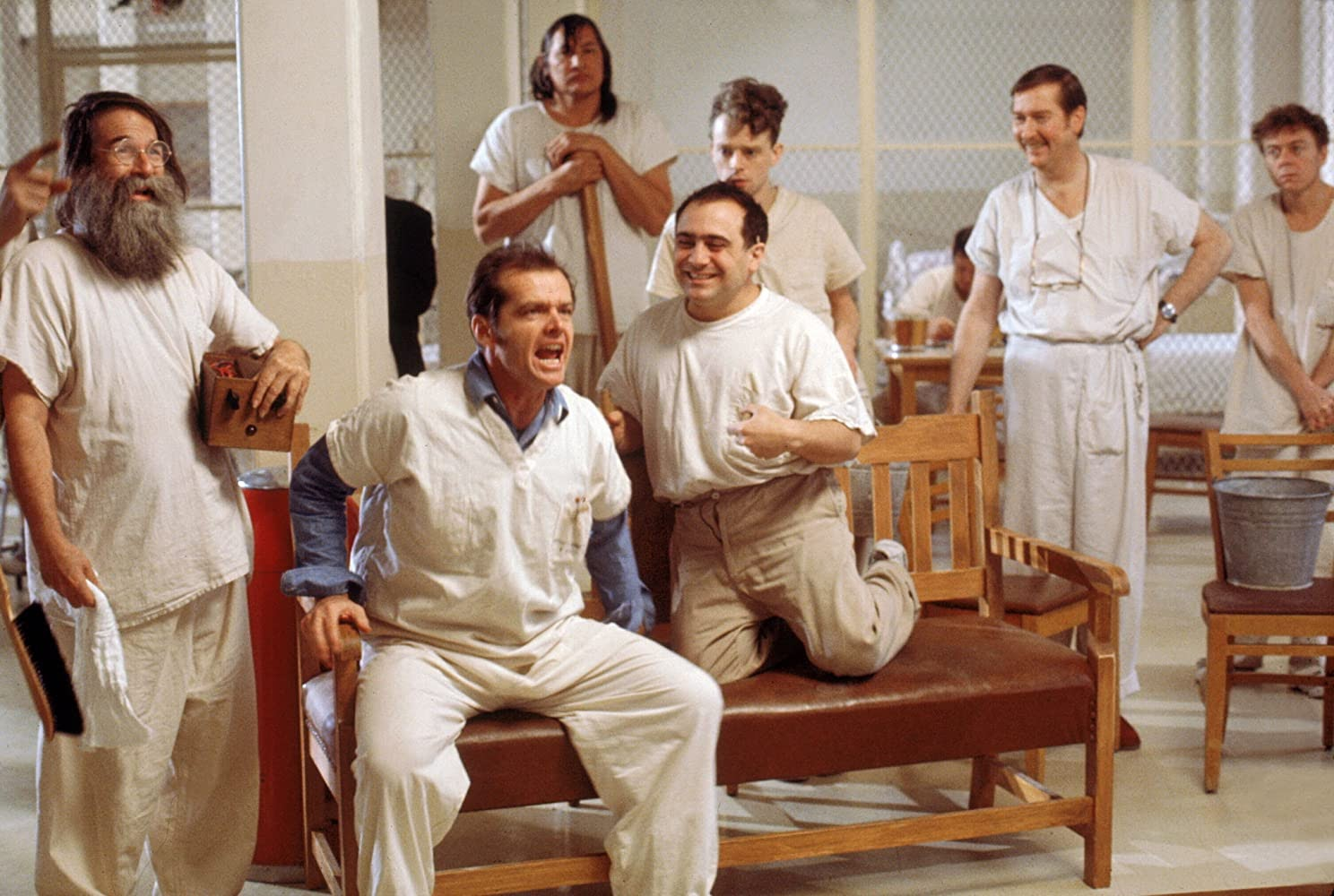 """Pictured is a scene from the movie """"One Flew Over the Cuckoo's Nest,"""" which contains dramatic portrayals of ECT."""