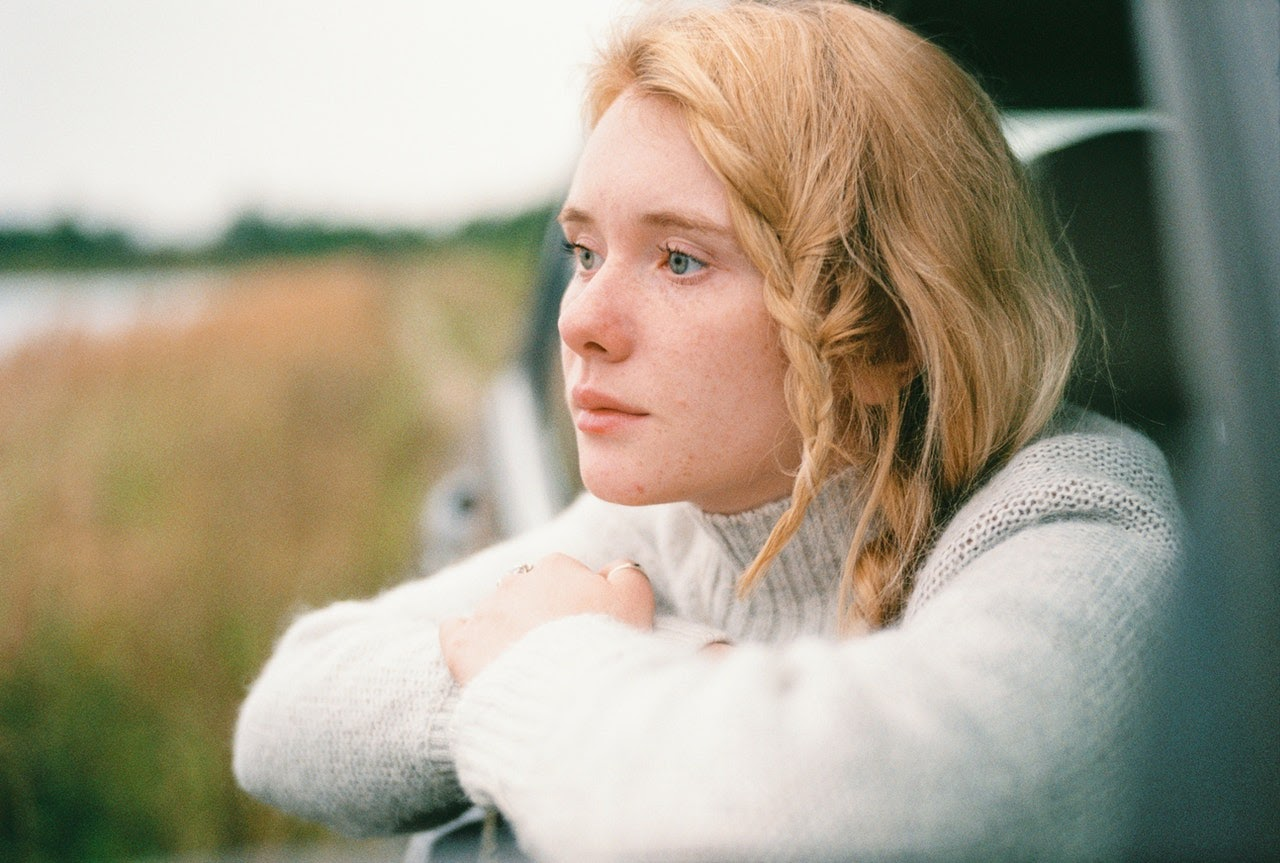 Depressed woman staring into the distance