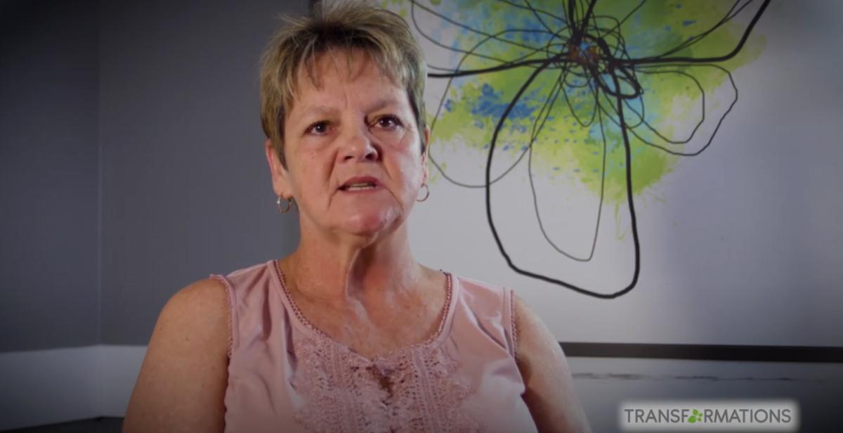 woman giving TMS testimonial