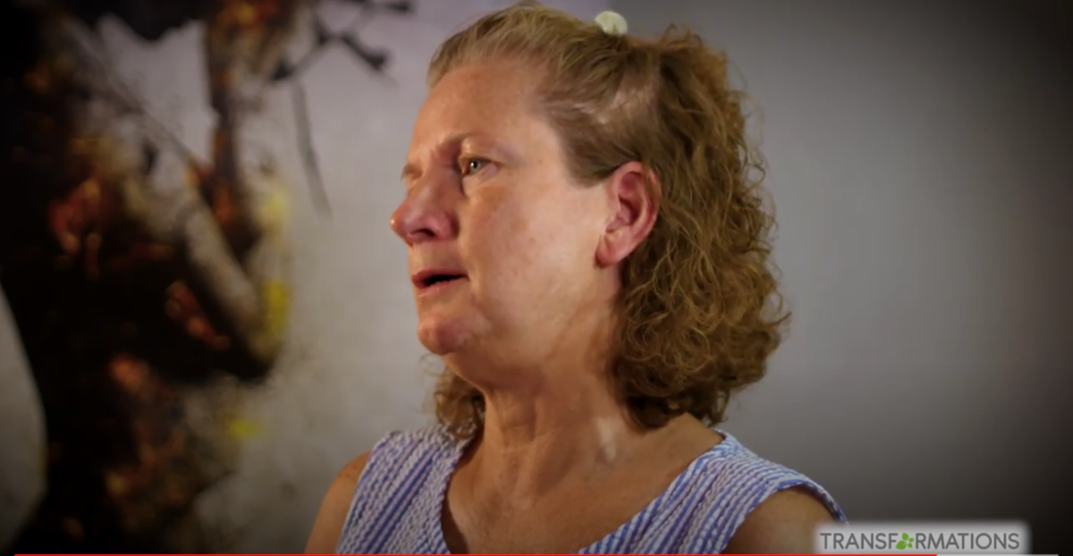 woman talking about TMS treatment