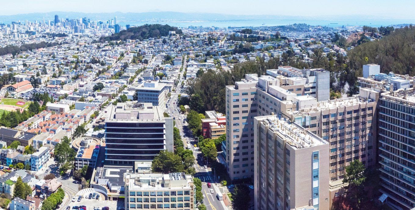 Aerial view of UCSF campus