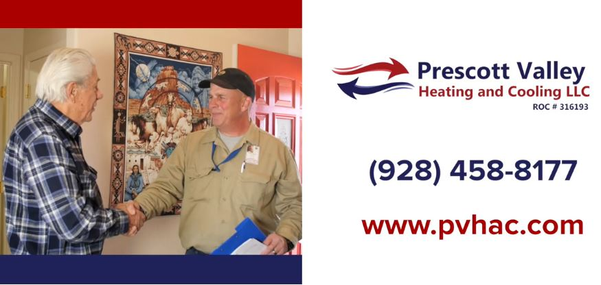 ragen hamilton sr completing service call with a prescott valley heating and cooling customer