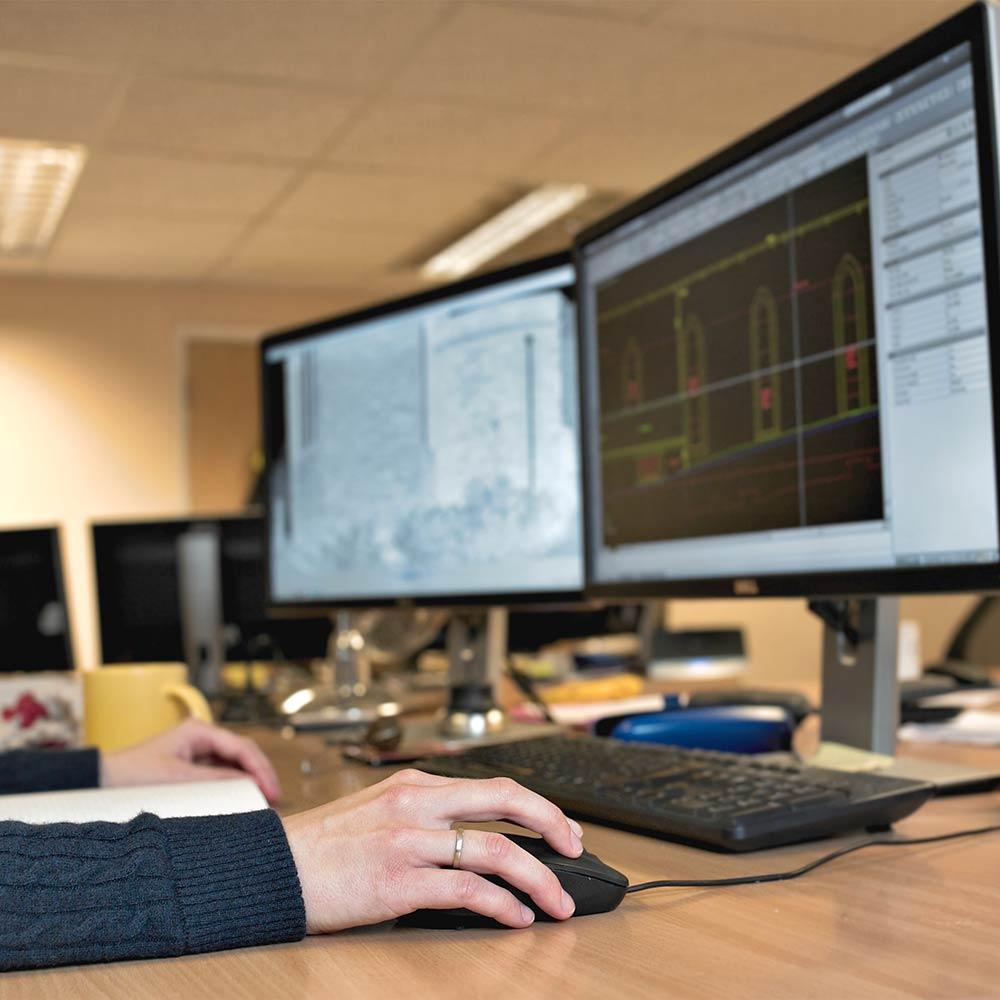 CAD design on computer