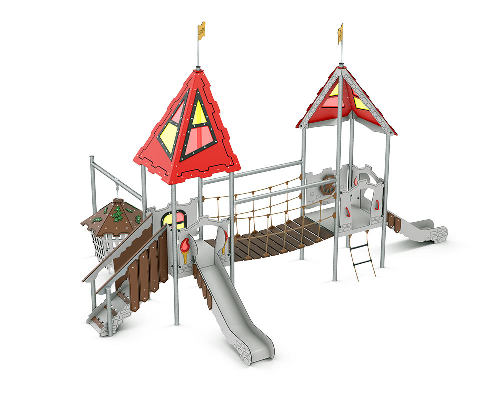This unit has slides galore and even a prison that moves with role play games inside and out.