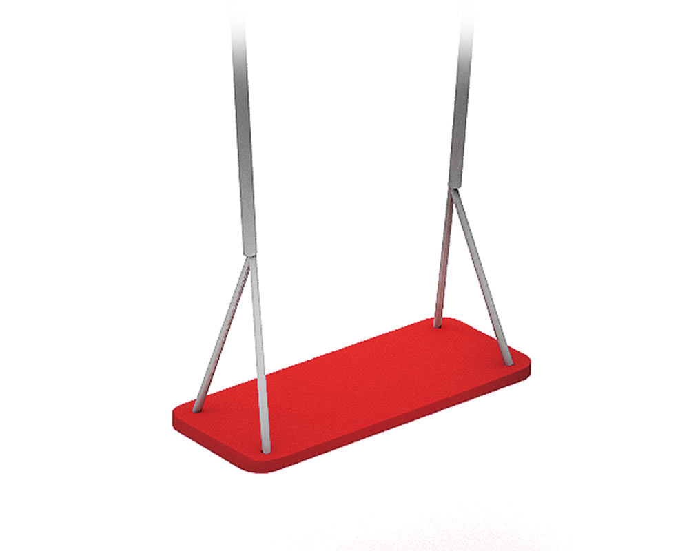 a flat seat for a playground swing