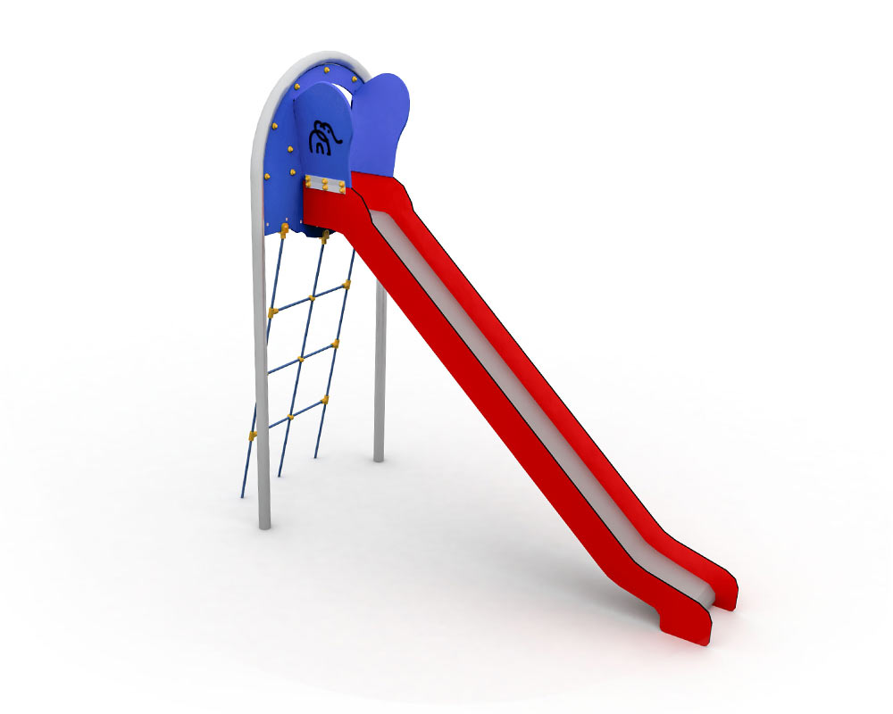 playground Open Slide with Rope Ladder