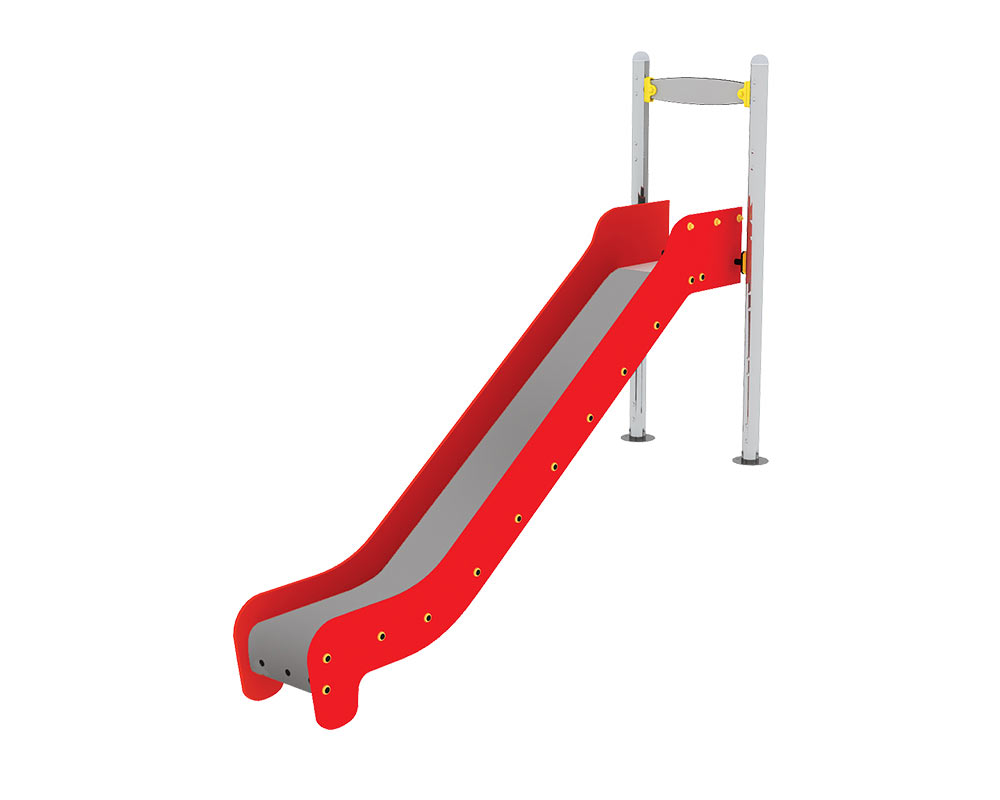 an open embankment playground slide