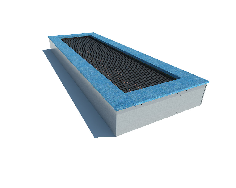 Playground high quality rectangular inground trampoline