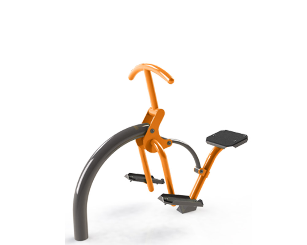 Adult outdoor gym equipment rider