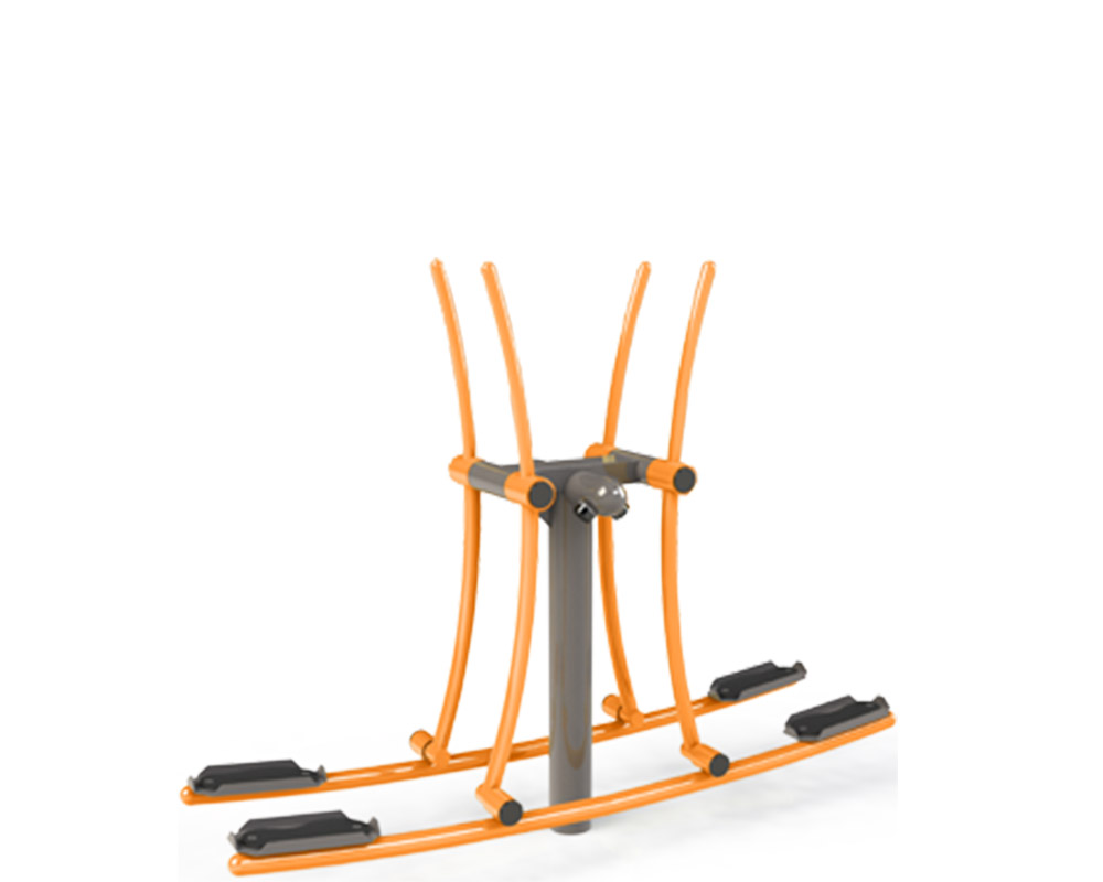 Adult outdoor gym equipment double country skier