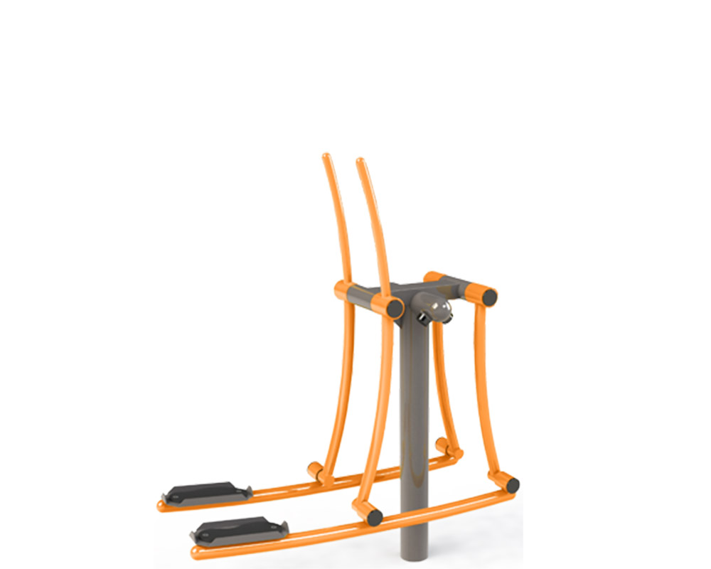 Adult outdoor gym equipment country skier