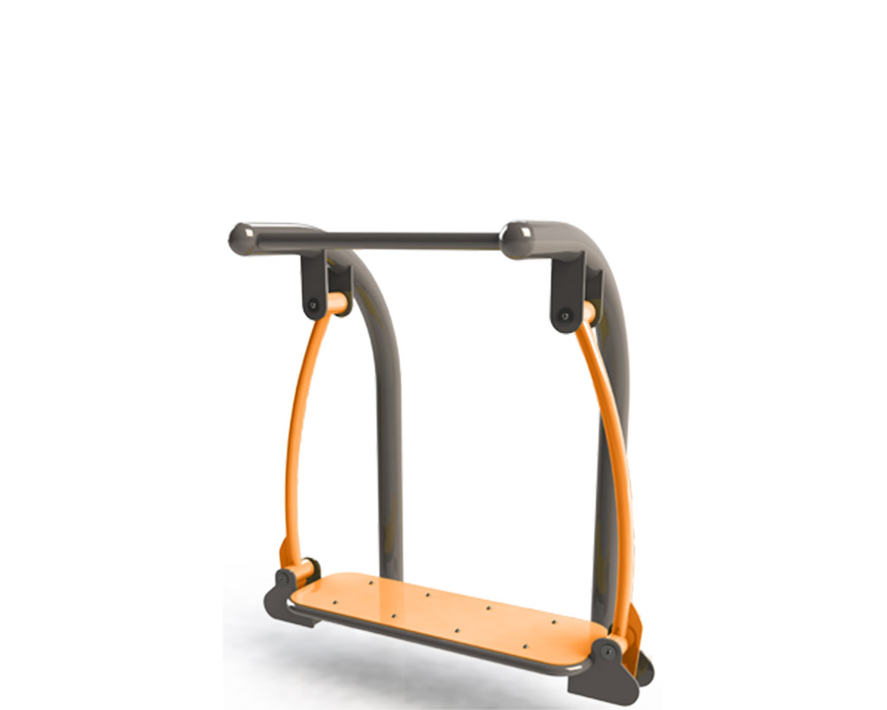 Adult outdoor gym equipment surfer