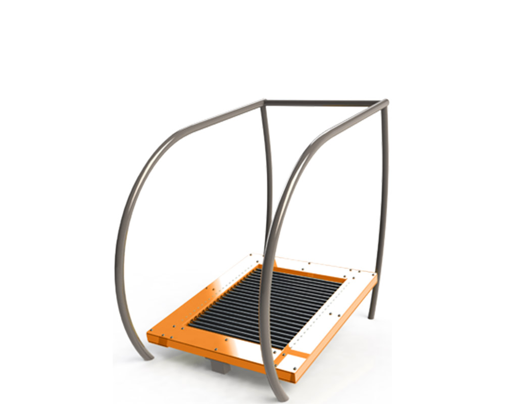 Adult outdoor gym equipment treadmill
