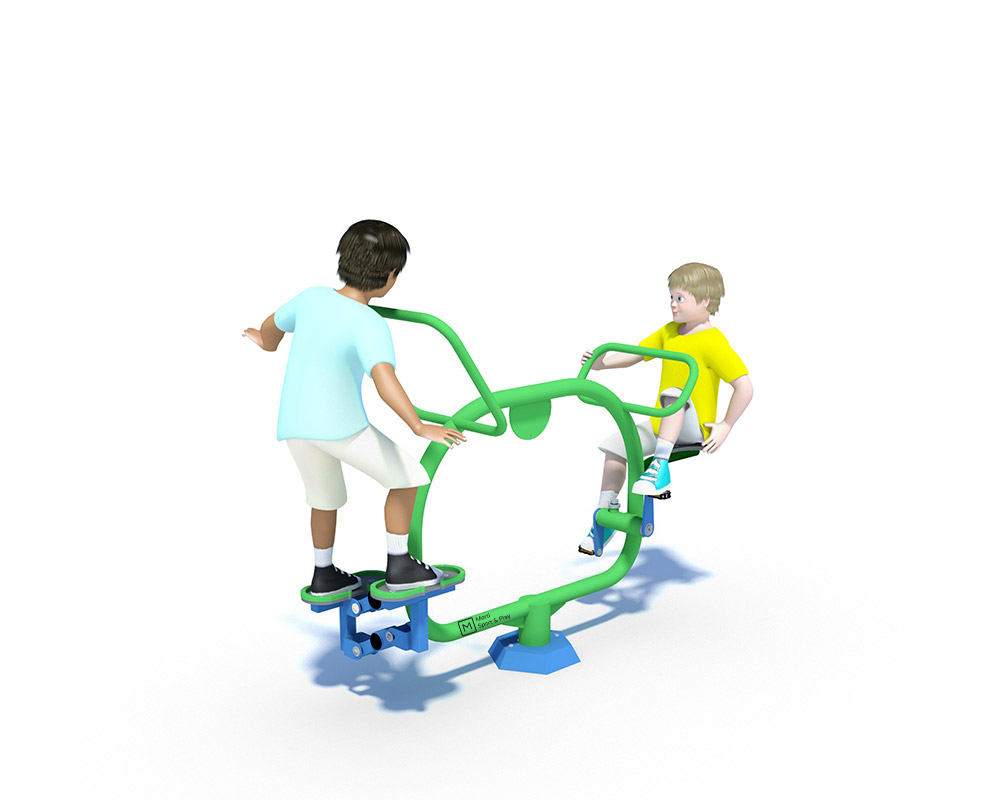 junior outdoor gym equipment for primary school with cycling and stepping