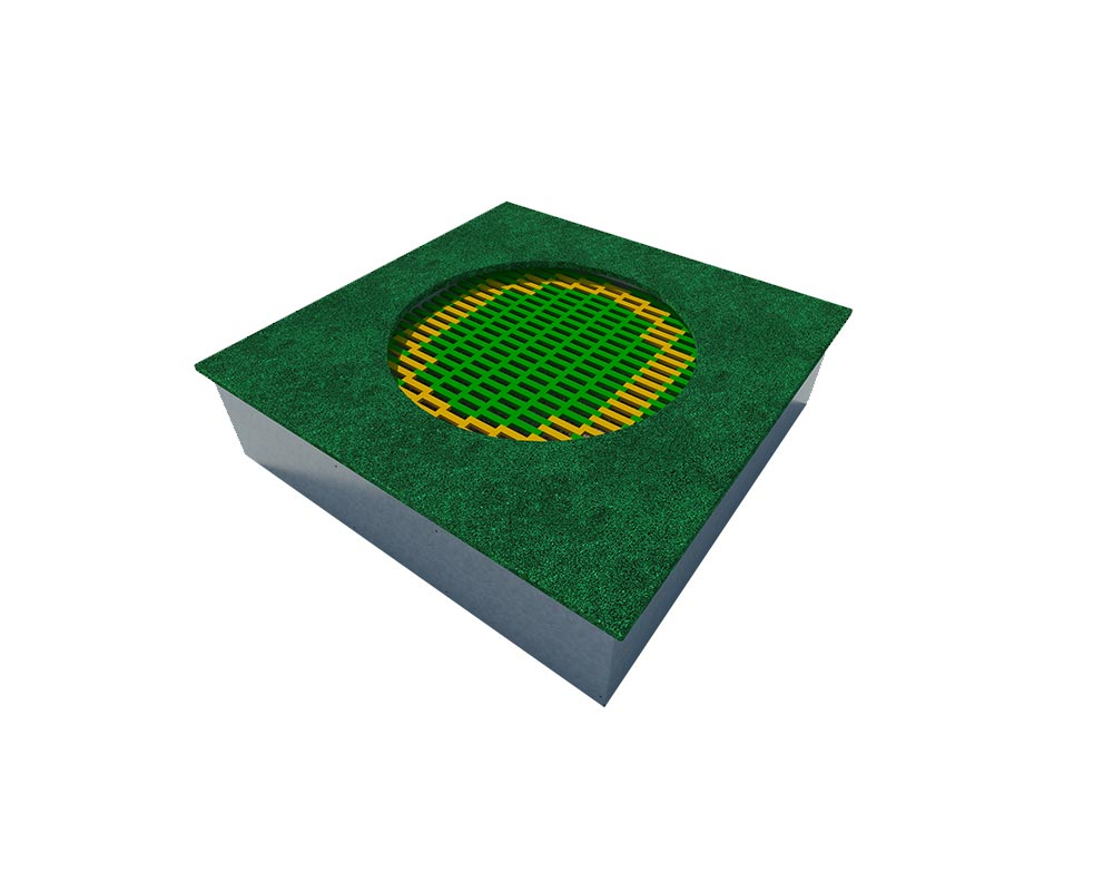 Playground high quality square inground trampoline